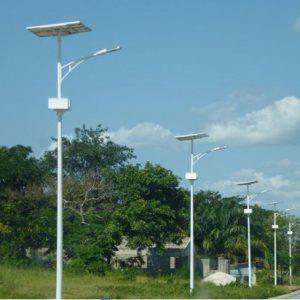 50000 Hours Working Lifetime 120lmW Outdoor LED Solar Street Light