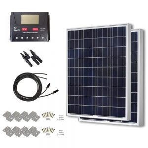 HQST 200 Watt 12 Volt Polycrystalline Solar Panel Kit with 30A PWM LCD Display Charge Controller See Size Options HQST 200 Watt 12 Volt Polycrystalline Solar Panel